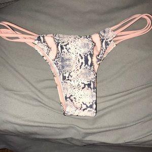 Other - Strappy Snakeskin Cheeky Bikini Bottoms
